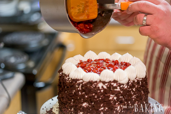 No matter the occasion, this stunner of a Black Forest Cake will appeal to both the eye and the taste buds.