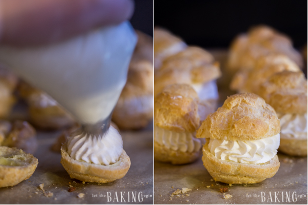 How to make chantilly cream filling for this classic cream puff recipe.