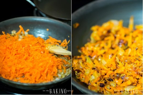 Sautéing vegetables is a must and contributes to the delicious flavor of the rolls. Don't miss this step!