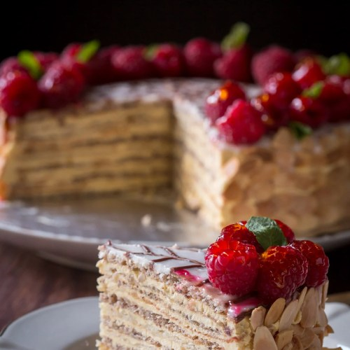Esterhazy - Exceptional Hungarian cake made of Hazelnut Meringue and rich Custard Buttercream | By Let the Baking Begin!