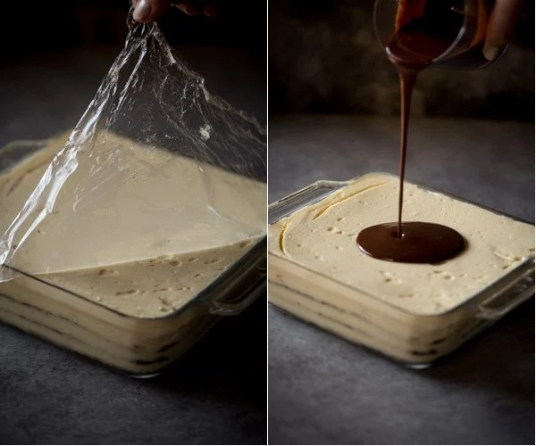 How to decorate cake with chocolate ganache.