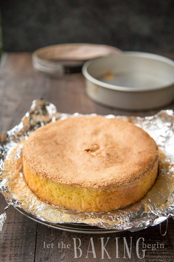 3 Ingredient Sponge Cake - Biskvit- Easy, foolproof recipe for a basic yellow sponge cake that is level, moist and perfect every time!