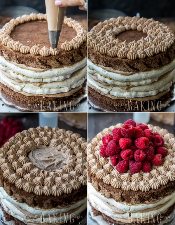 How to decorate the Chocolate Meringue Nutella cake.