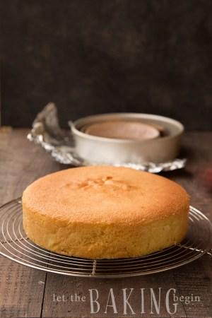 Simple Yellow Sponge Cake Recipe Let The Baking Begin