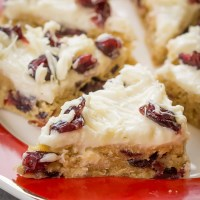 Cranberry Bliss Bars Recipe (VIDEO)
