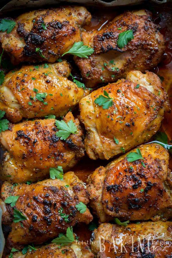 Garlic Ranch Baked Chicken Thighs Let The Baking Begin