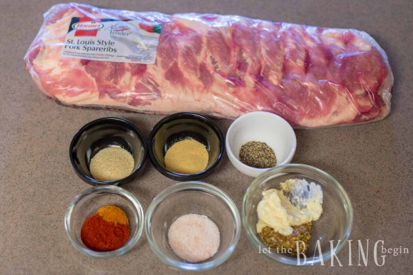 Shot of ingredients for Instant Pot ribs
