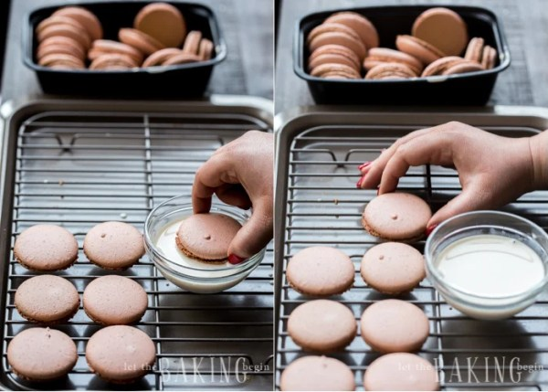 Dulce de Leche Macaron Recipe uses Italian Macaron Shell recipe and dulce de leche as the filling. Using dulce de leche as the macaron filling is the most genius thing, since it's easy and of course - super delicious.