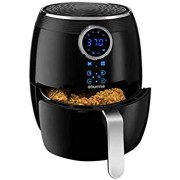 Air fryer is a compact countertop convection oven that due to the small cooking space, lots of heat and a good fan to circulate the heat allows to crisp or brown up the foods better than any regular convection oven.