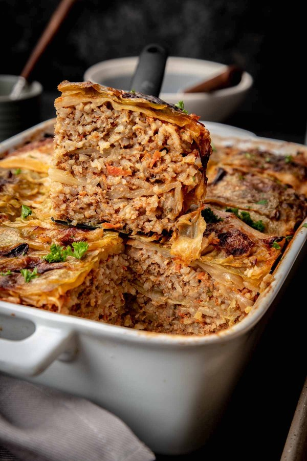 Unstuffed Cabbage Rolls Casserole is my family's latest obsession. It's a lot quicker to make then traditional cabbage rolls, so I can make it more often.