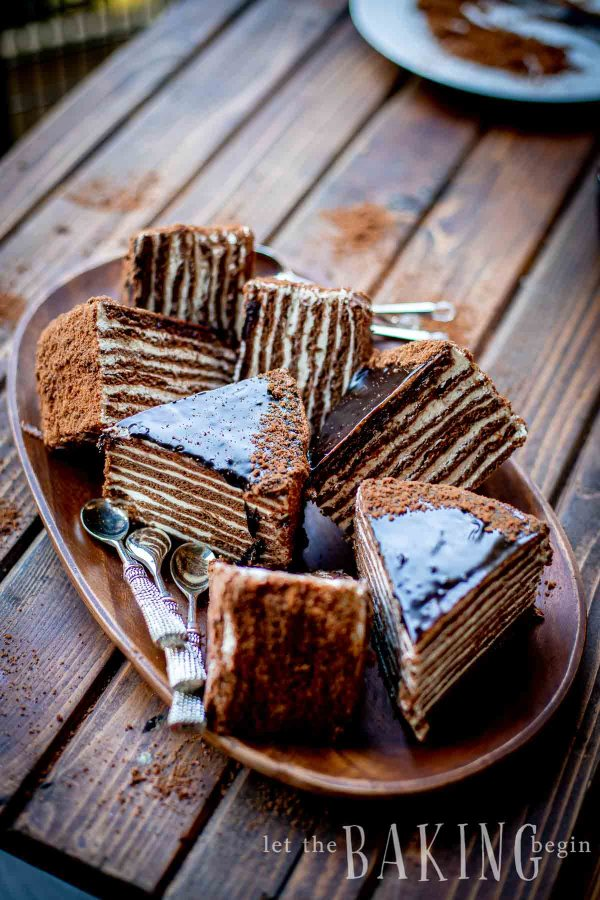 The best chocolate cake - slices of cake that show layers of chocolate and buttercream icing.