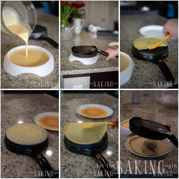 Visual step by step directions for how to make a blintz