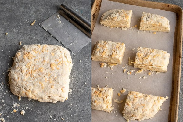 how to cut cheddar biscuits
