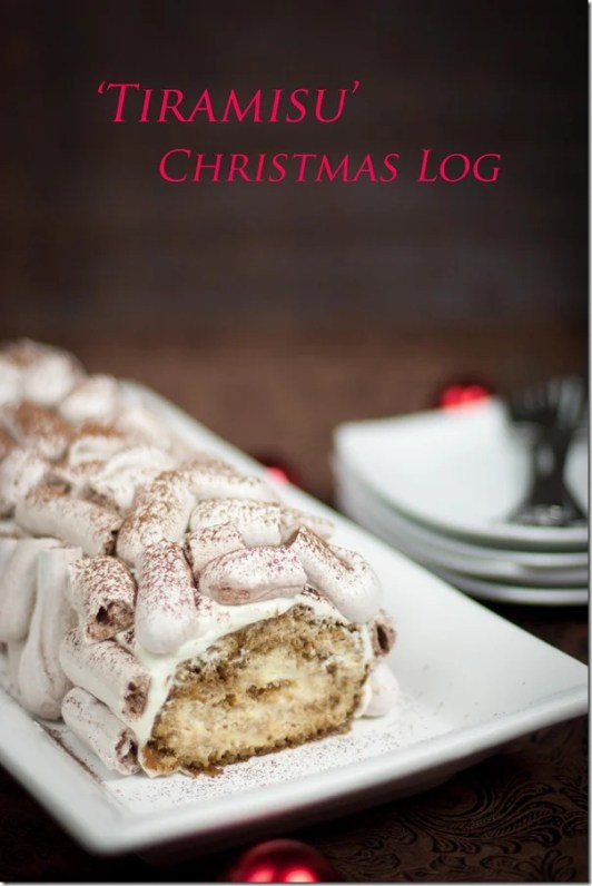Tiramisu Roll with Meringue Logs - super moist and creamy this Tiramisu Roll is sure to impress! | by Let the Baking Begin!