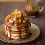 Caramel Apple Pie Pancakes - all made from scratch and oh so delicious! {Letthebakingbeginblog.com}