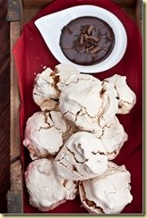 Peanut Meringue w/ Chocolate Peanut Sauce