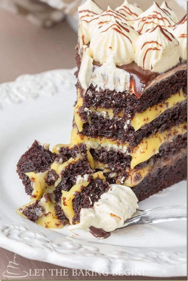 Cake With Chocolate Custard : Marina s Bird s Milk Cake - Let the Baking Begin!