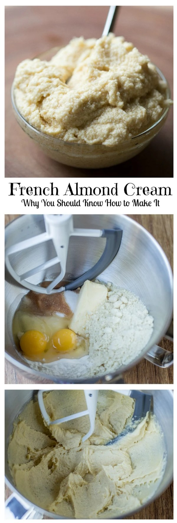 Quick & Easy French Almond Cream - just add ingredients to the bowl & Whisk. Great for filling Pastries, Tarts, Croissants & Toast. by Let the Baking Begin!