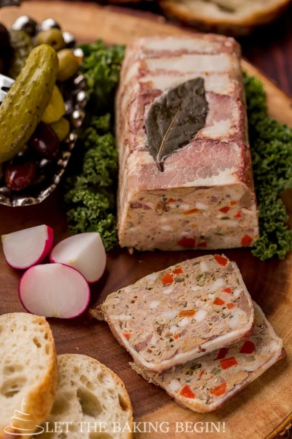 Country Style Pate - rich, incredibly flavorful pate recipe goes great with a fresh crusty baguette and a pickle. If you've never made this at home, do it at least once. Step by step pictures will be there to guide you every step of the way. By LetTheBakingBeginBlog.com | @Letthebakingbgn