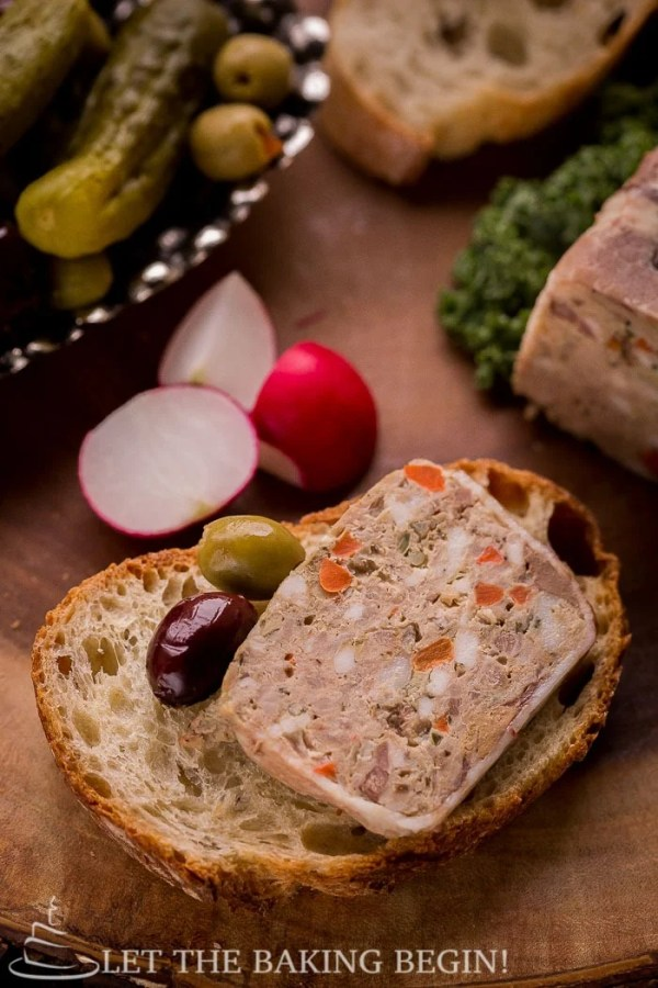 Country Style Pate - rich, incredibly flavorful pate recipe goes great with a fresh crusty baguette and a pickle. If you've never made this at home, do it at least once. Step by step pictures will be there to guide you every step of the way. By LetTheBakingBeginBlog.com   @Letthebakingbgn