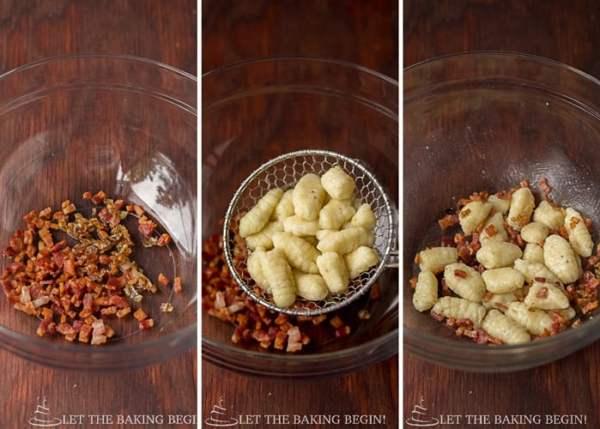 Potato Gnochi with Bacon & Caramelized Onion   By LetTheBakingBeginBlog.com   @Letthebakingbgn