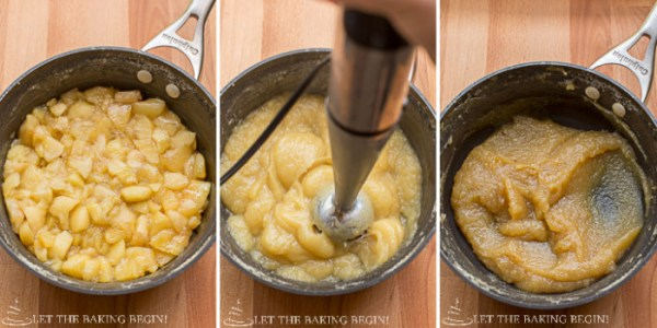 Apple Butter Cake - Absolutely light and delicious cake, especially perfect if you have a ton of apples that are not being eaten fresh. Step by step photos included with instructions. By LetTheBakingBeginBlog.com @Letthebakingbgn