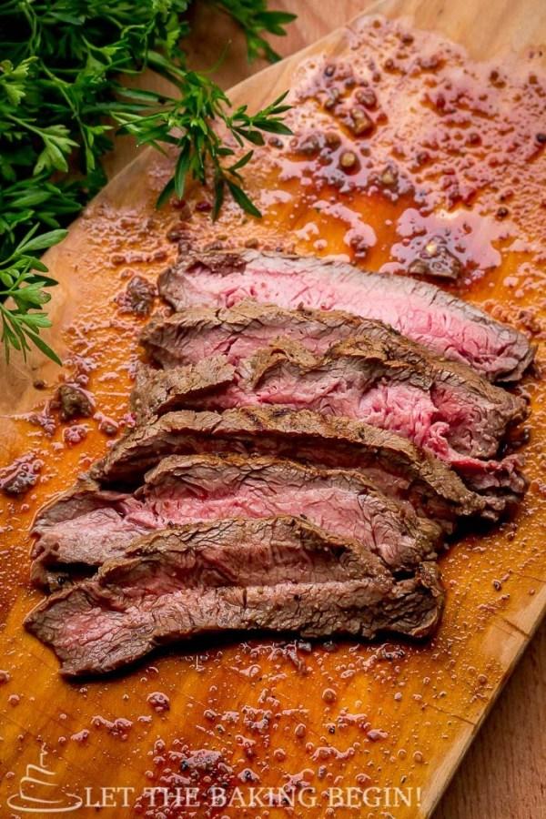 Grill Pan Flat Iron Steak with Chimichurri Sauce Recipe ...