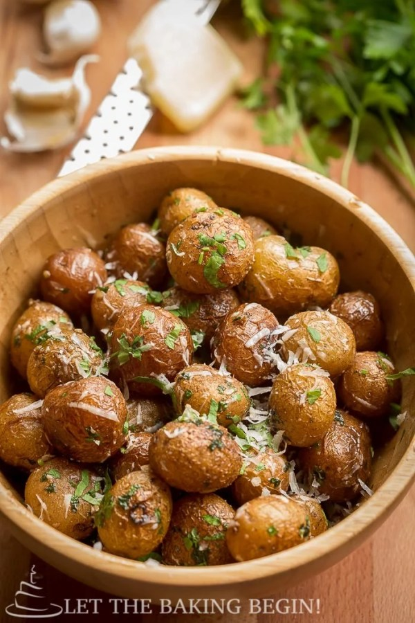 Pan Seared Parmesan Little Potatoes - I like to make these potatoes for an after church lunch, since they come together quickly and my whole family loves how creamy and flavorful they are   LetTheBakingBeginBlog.com   @Letthebakingbgn