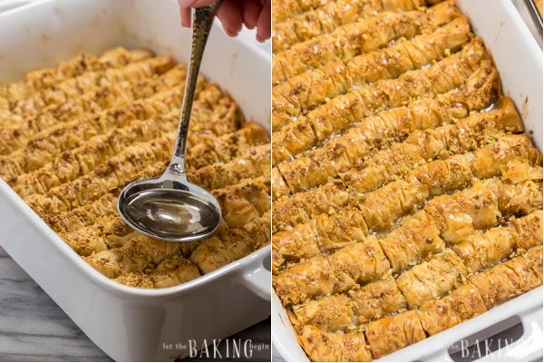 Pistachio-Walnut Baklava Rolls | by Let the Baking Begin!