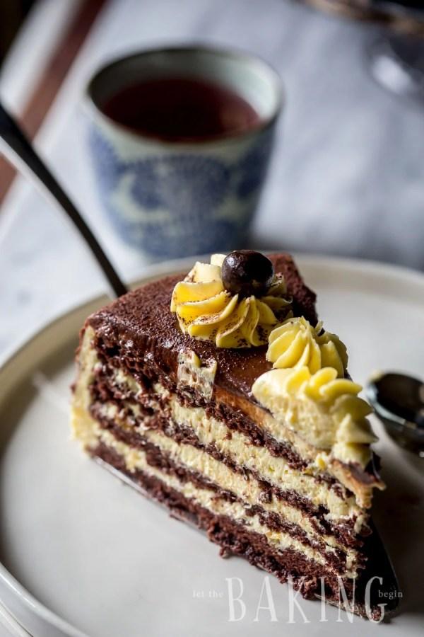 Bird's Milk Cake Recipe (Ptiche Moloko) - Layered Cake of Chocolate Angel Food Cake and Custard Buttercream   By Let the Baking Begin!
