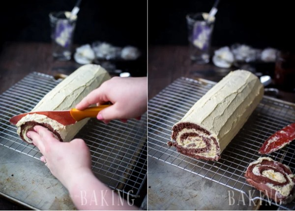 Chocolate Custard Roll - {Birds Milk Roll} - Combination of Chocolate Angel Food Cake with Custard Buttercream is quite magical together | Let the Baking Begin!