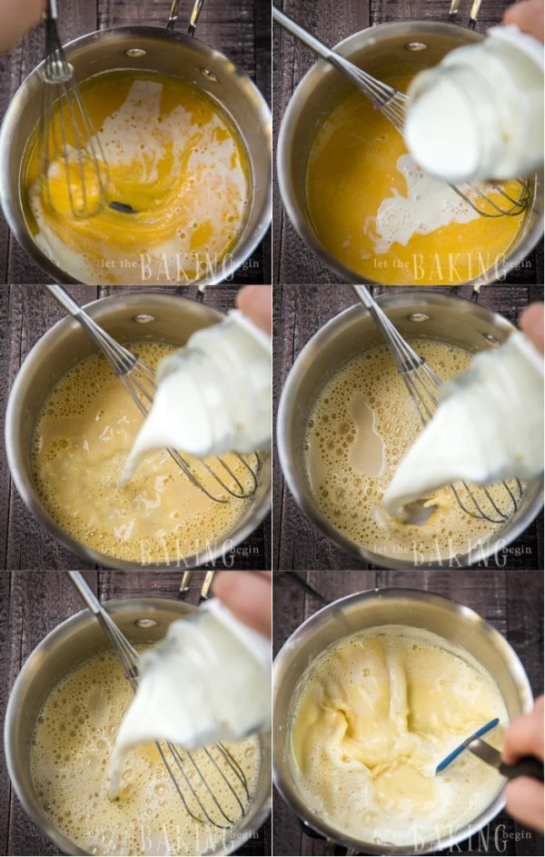 Dulce de Leche Mousseline Cream - this pastry cream fluffed up with butter is used to frost cakes, sandwich meringues and adorn other desserts. Dulce de Leche gives the classic custard flavor a bit of a flavor boost.   By Let the Baking Begin!