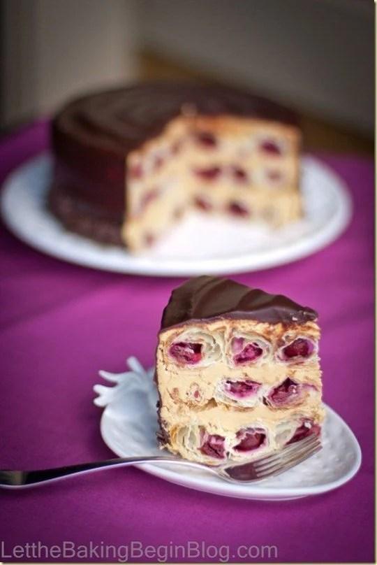 Honeycomb Cherry Cake