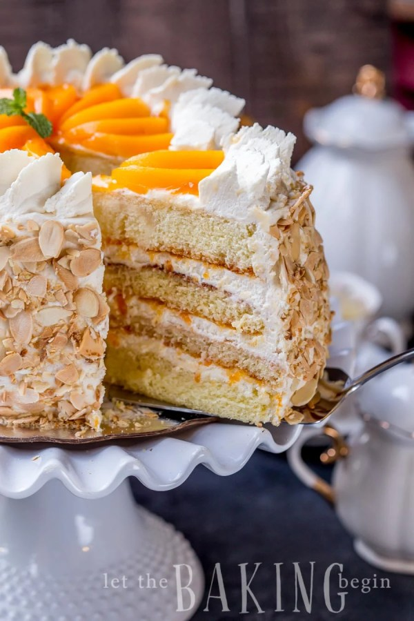 Bake Cake With  Eggs And Whipping Cream
