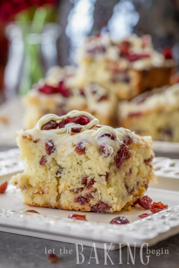 Cranberry And White Chocolate Cake This Morning
