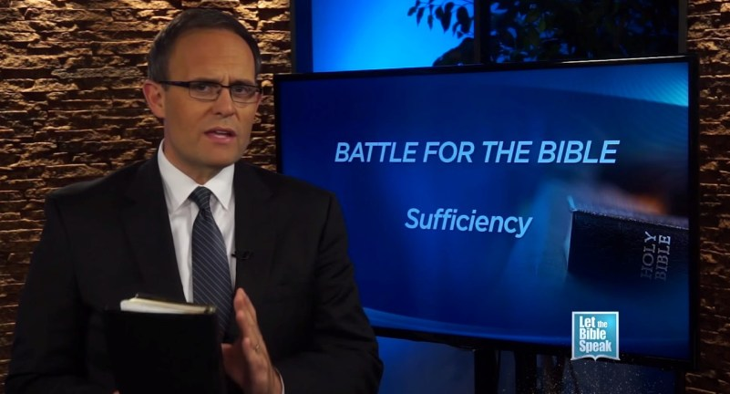 Battle For The Bible's Sufficiency (The Text) - LET THE BIBLE SPEAK TV with Kevin Presley