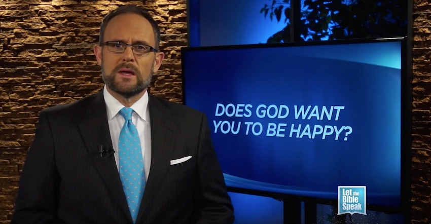 Does God Want You To Be Happy? (The Text) - LET THE BIBLE SPEAK TV with Kevin Presley