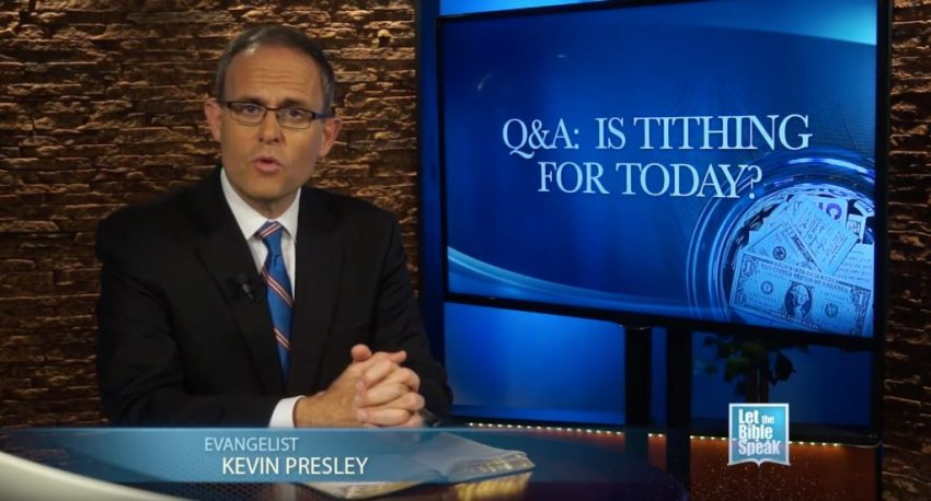 Is Tithing For Today? (The Text) - LET THE BIBLE SPEAK TV with Kevin Presley