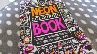 neon colouring book