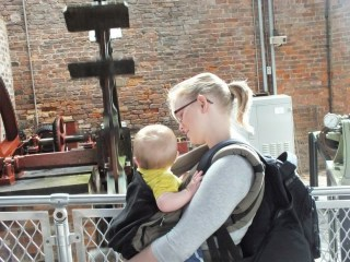 babywearing with an ergo