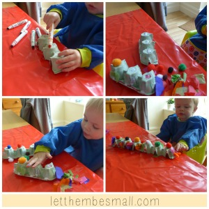 Eggbox snake craft