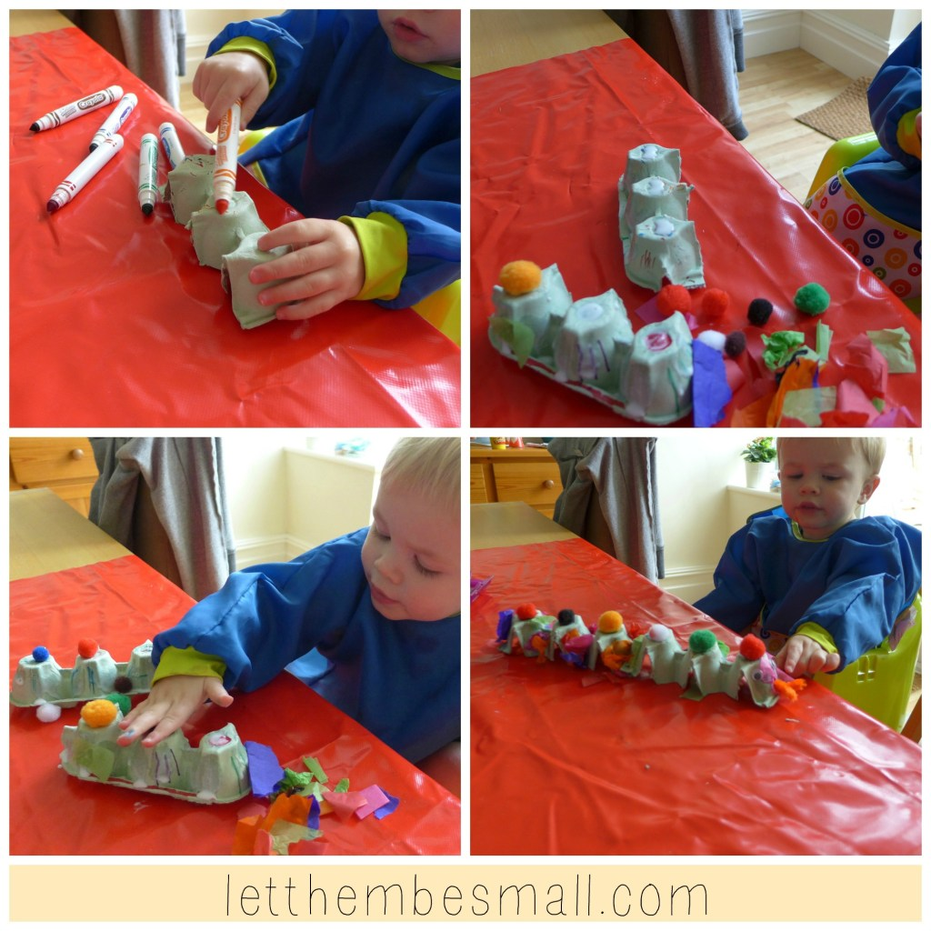 Making an egg box snake