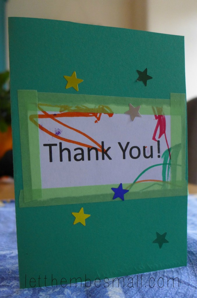 Easy Toddler Thank You Cards