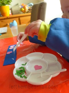 making felt bookmarks with toddlers