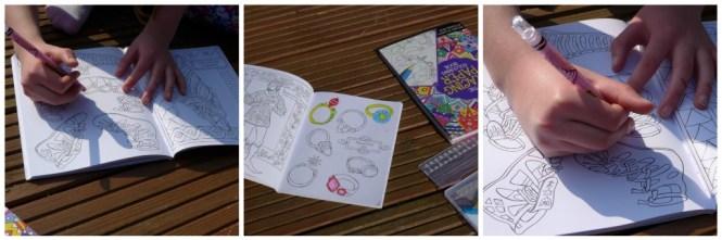 fashion through time colouring book