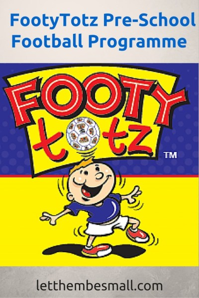 FootyTotz is a pre school football programme - a great review here of how it works