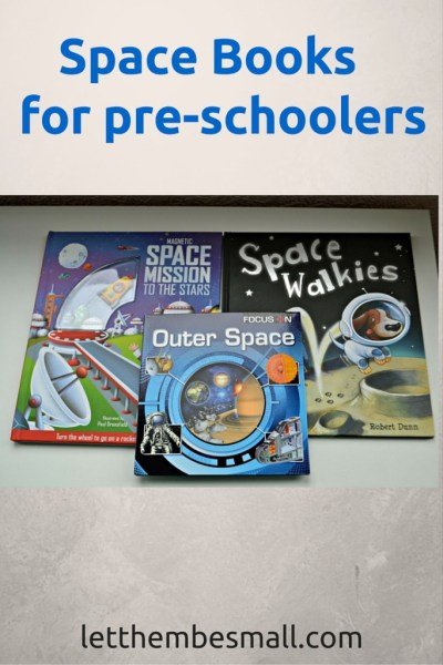 Ideas for space themed books for toddlers and pre schoolers