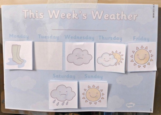 twinkl weather chart