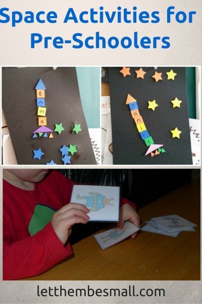 Space activities and resources for pre schoolers - links to printable resources