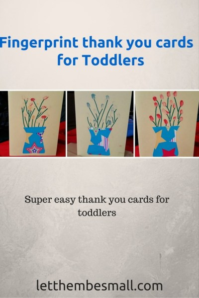 super cute, quck and easy thank you cards for toddlers